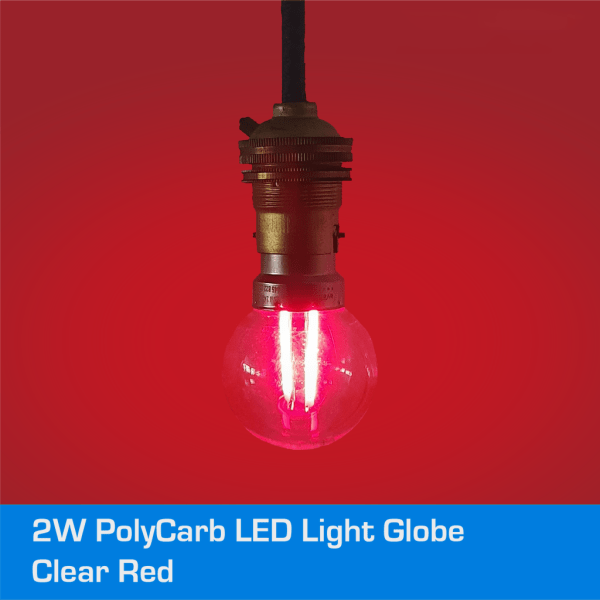 2W_LED_Transparent_Red