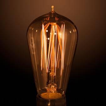 CFC25ES Carbon Filament Lamp Model C 240v 25W ES Fitting