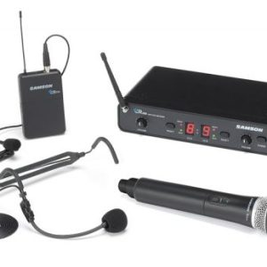 Samson CON88-ALL Dual Channel Wireless Lapel/Headset/Handheld