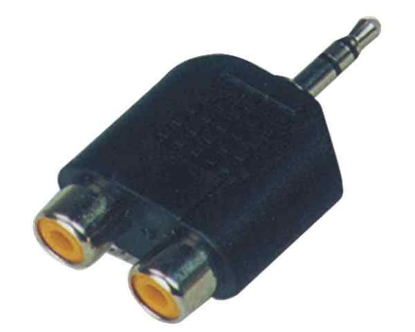 SoundKing SMJRF22 3.5mm TRS Male Jack to 2 x RCA-F Adapter