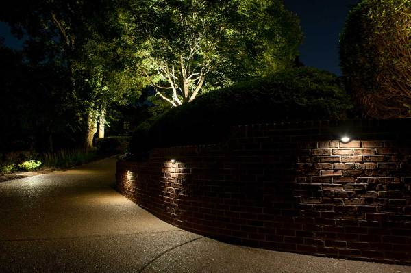 Security Lighting in Driveway of Home Light Up Nashville