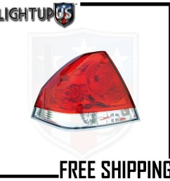 fits 06 14 chevrolet impala tail light lamp driver side left only  [ 1000 x 1000 Pixel ]
