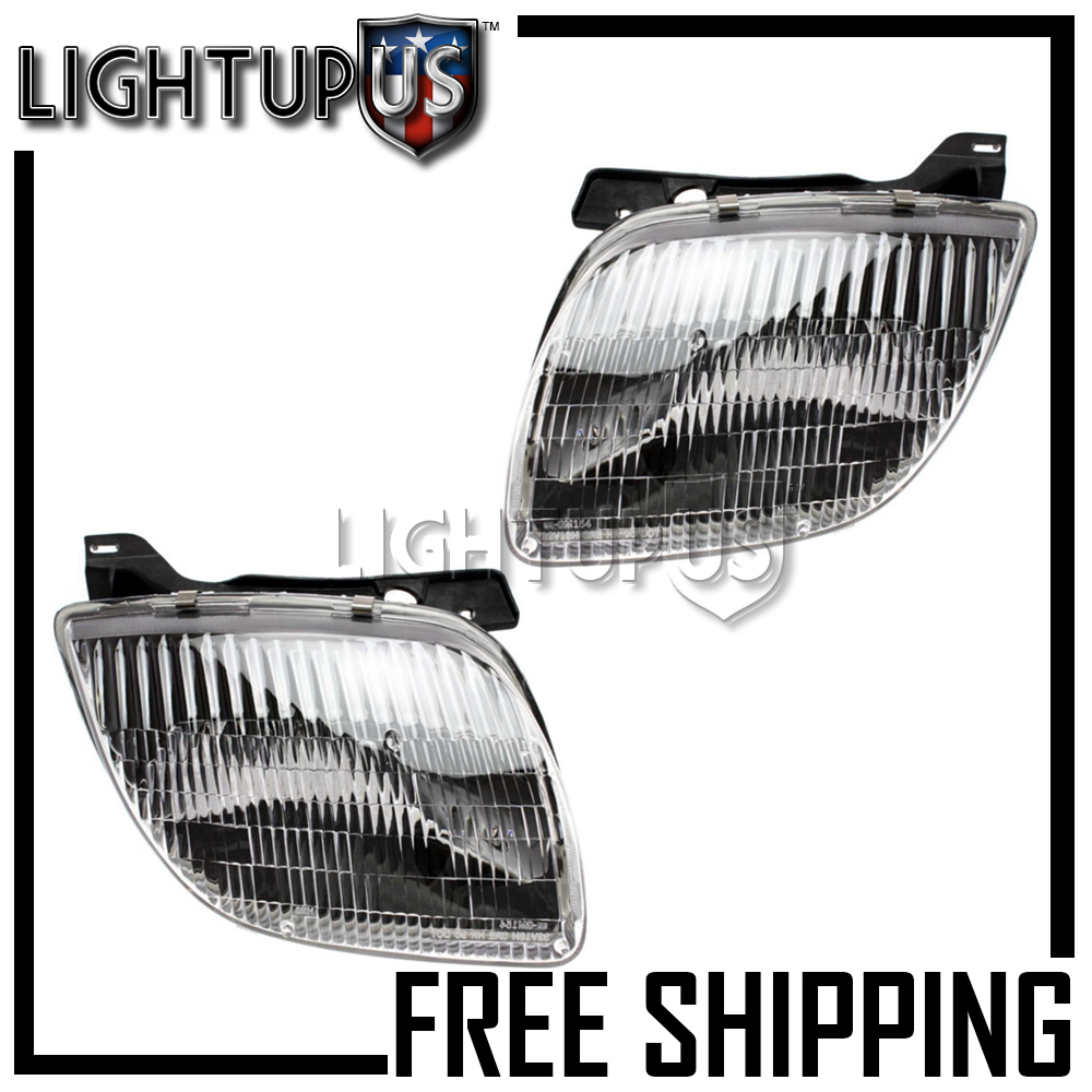 1995-2002 PONTIAC SUNFIRE Left Right Sides Pair Headlights