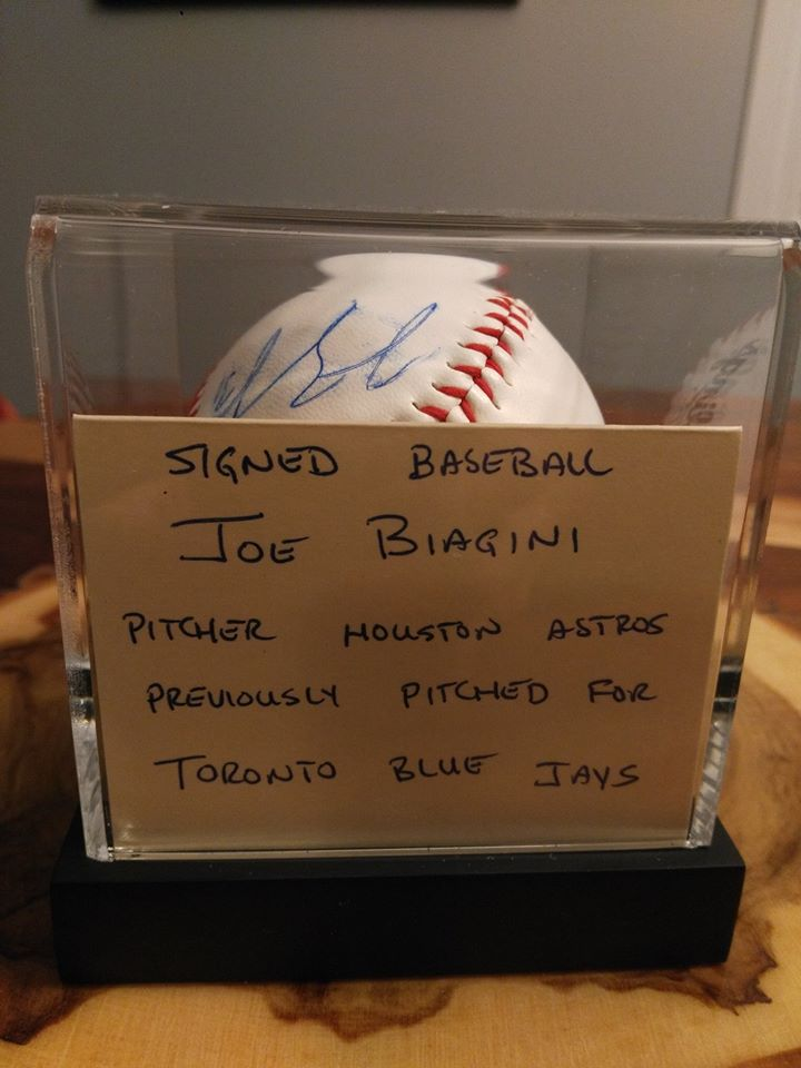 Silent Auction 2019 signed baseball