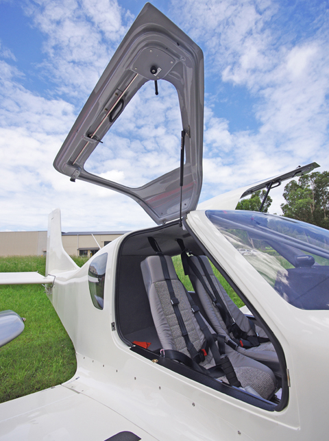 White SP2000 Gull Wing Doors