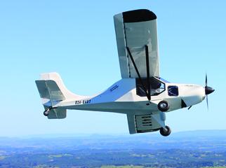 White GR LSA In Flight