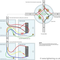 Light Switch Wiring Diagrams Uk 1993 Chevy 1500 Radio Diagram 2 Way 3 Switching Wired To A Loop In Out Radial Lighting Circuit