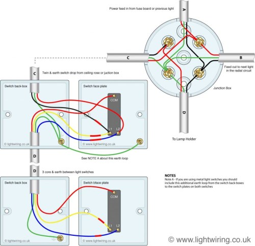 small resolution of 3 way switching wired to a loop in loop out radial lighting circuit
