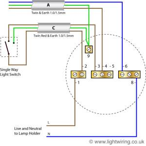 Radial circuit light wiring diagram | Light wiring