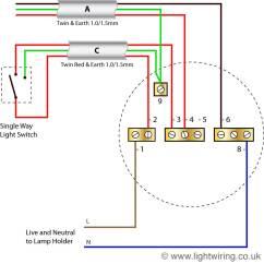 1 Way Light Switch Wiring Diagram John Deere 4430 Alternator Ceiling Rose Radial Circuit Last Old Colours