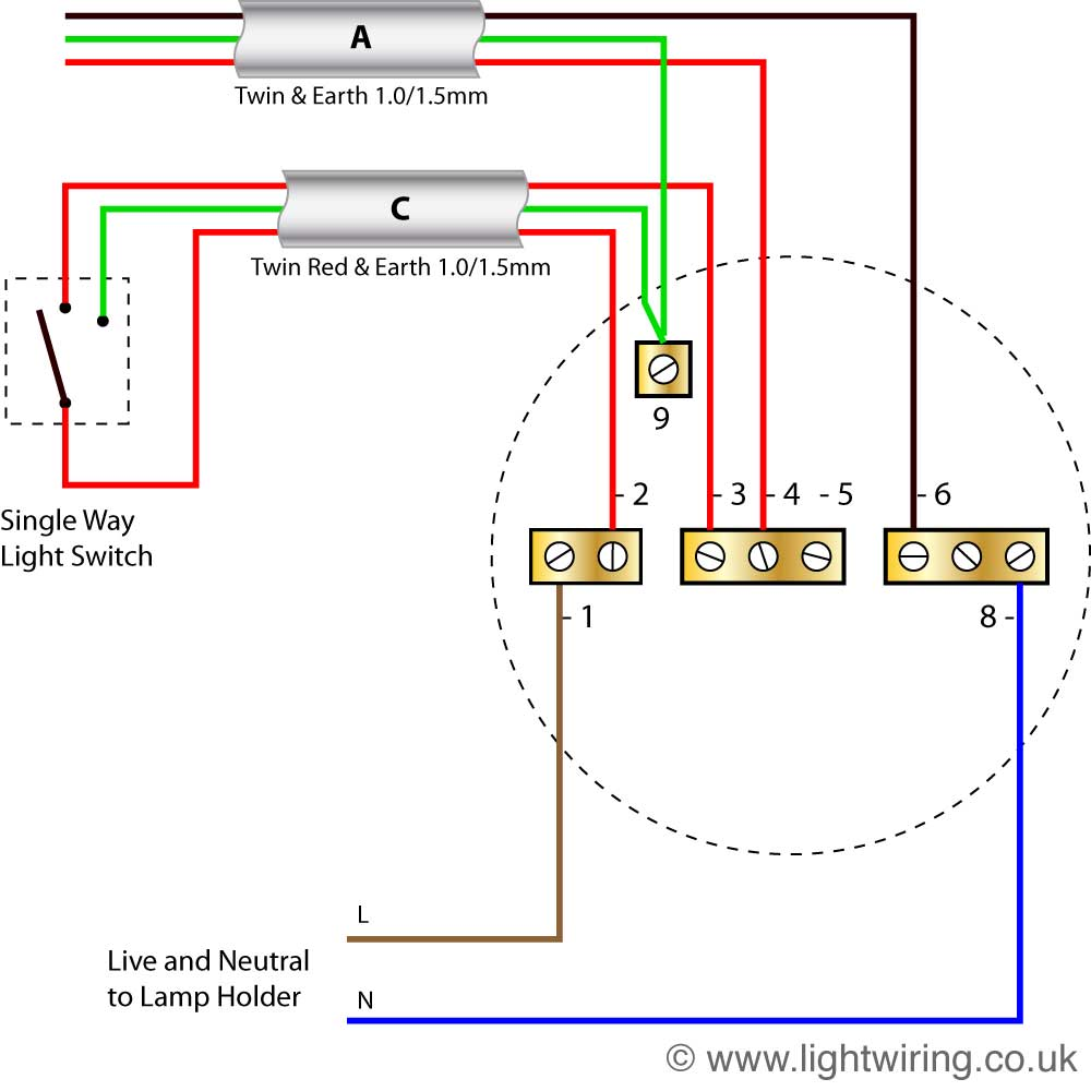 hight resolution of  diagram 2 way switch ceiling rose wiring light wiringradial circuit last ceiling rose old colours