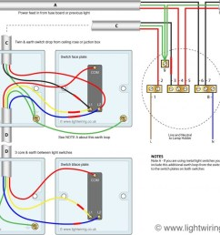 two way switching using a 3 wire control shown in the old cable colours fig 2  [ 1024 x 845 Pixel ]