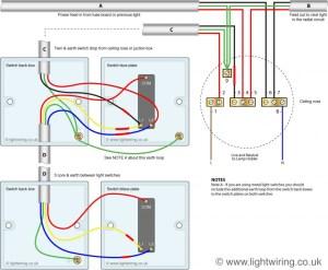 2 way lighting circuit diagram | Light wiring
