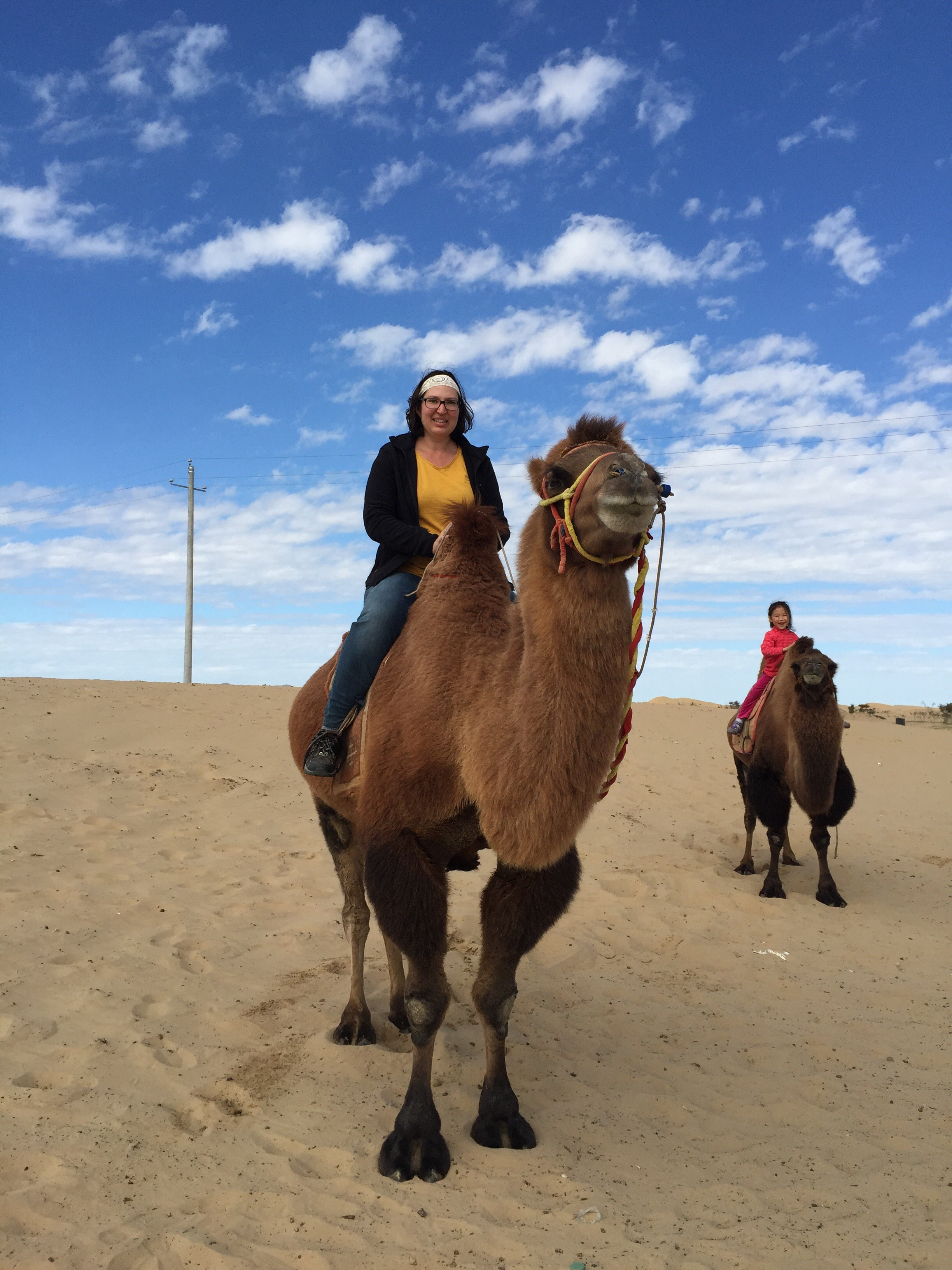Seriously, I'm on a camel!!