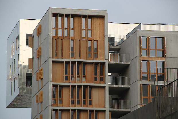 Lyon Confluence, logements Park Islands - Architecte : Clément Vergèly - Photo : Vincent Laganier