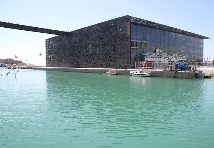 MuCEM, vue depuis le quai bas du Fort Saint-Jean, Marseille, France - Architecte : Rudy Ricciotti - Photo : Vincent Laganier