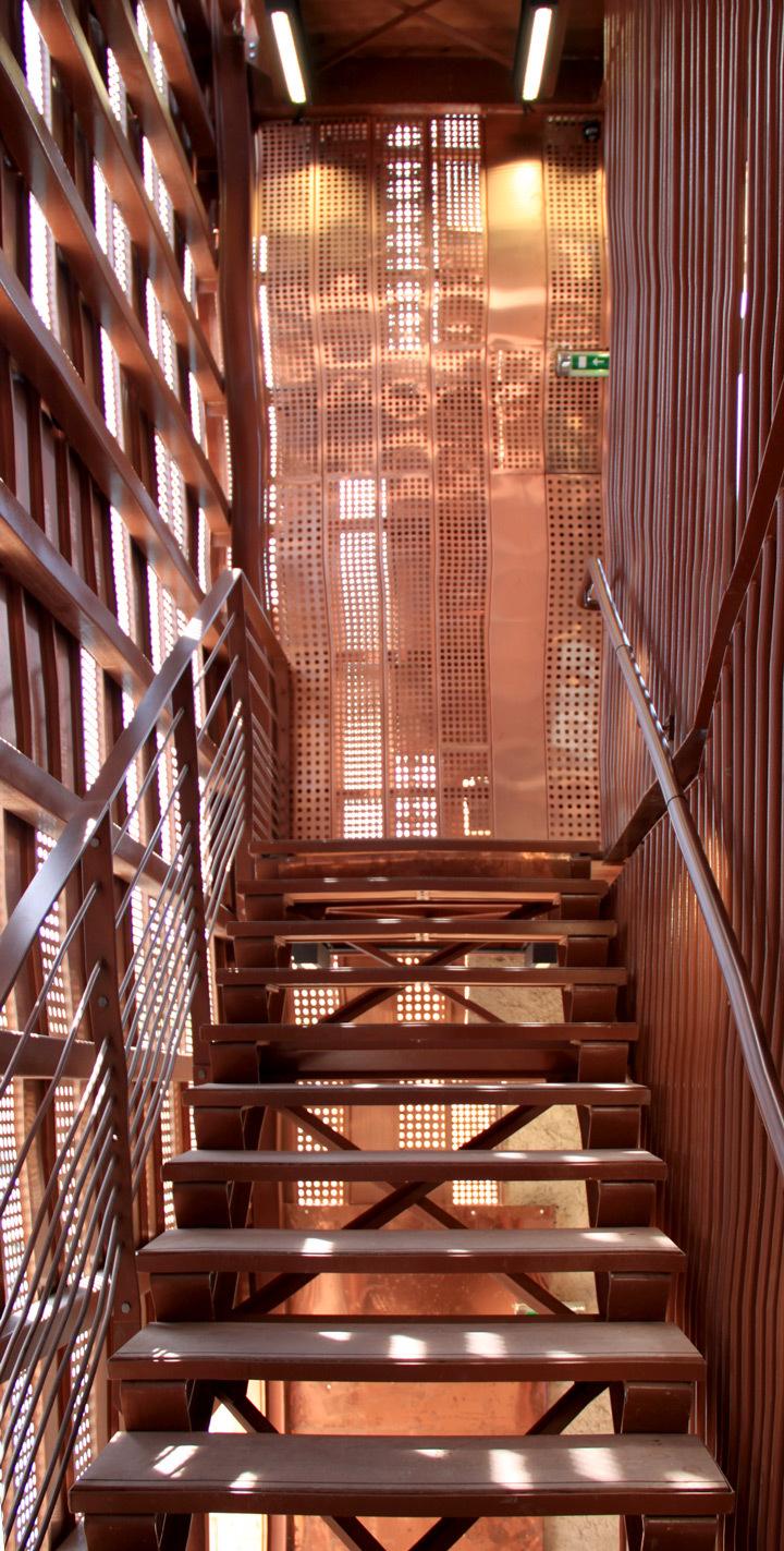 Fort Saint-Jean, nouvelle montée d'escaliers, Marseille - Architecte : Roland Carta - Photo : Vincent Laganier