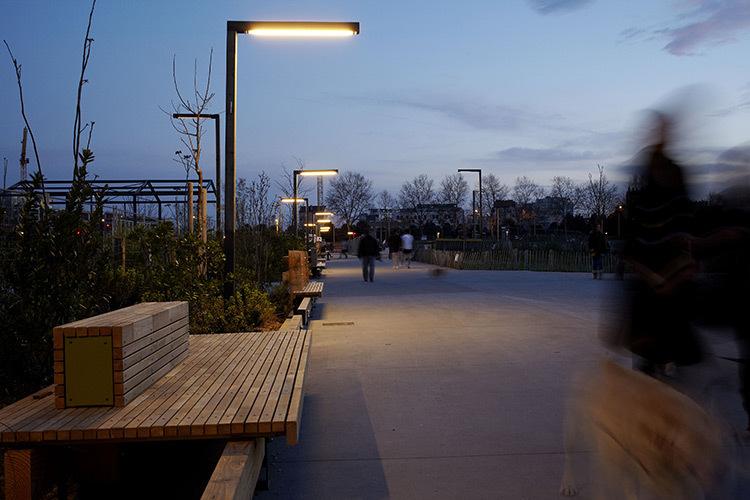 Télégestion en éclairage - Parc Blandan, Lyon, France