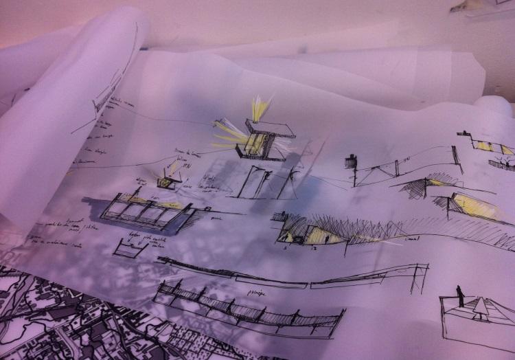 Formation en Atelier lumière dans une école de paysage
