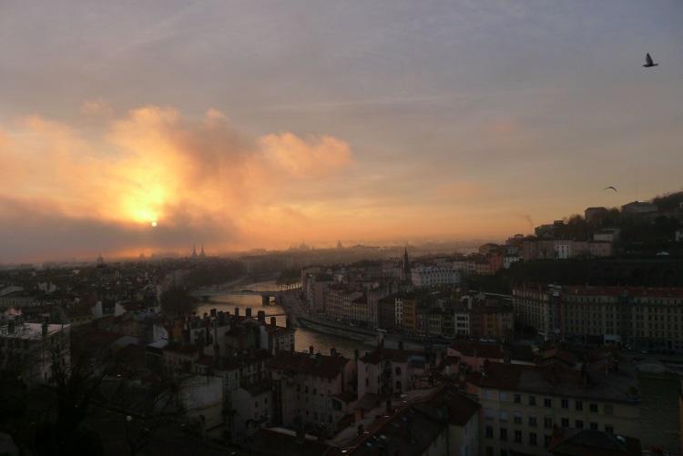 L'aube sur la Saône - Lyon ©Mourka