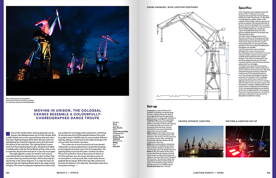 Pages 334-335 extraites du livre : Bright 2 Architectural Illumination and Light Installations, Frame Publishers