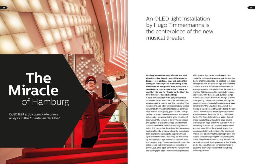 Hall du théâtre de Hambourg avec des OLED © Lumiblade insider 01/2015