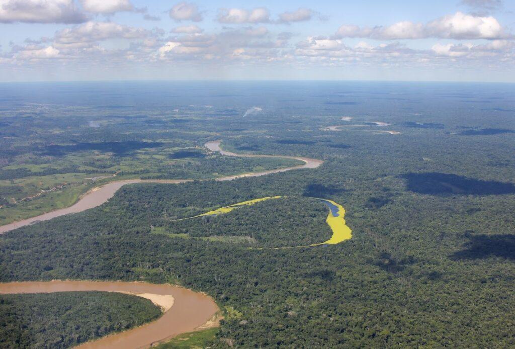 Amazonie, vue d'avion, Brésil - Photo Naziha Mestaoui