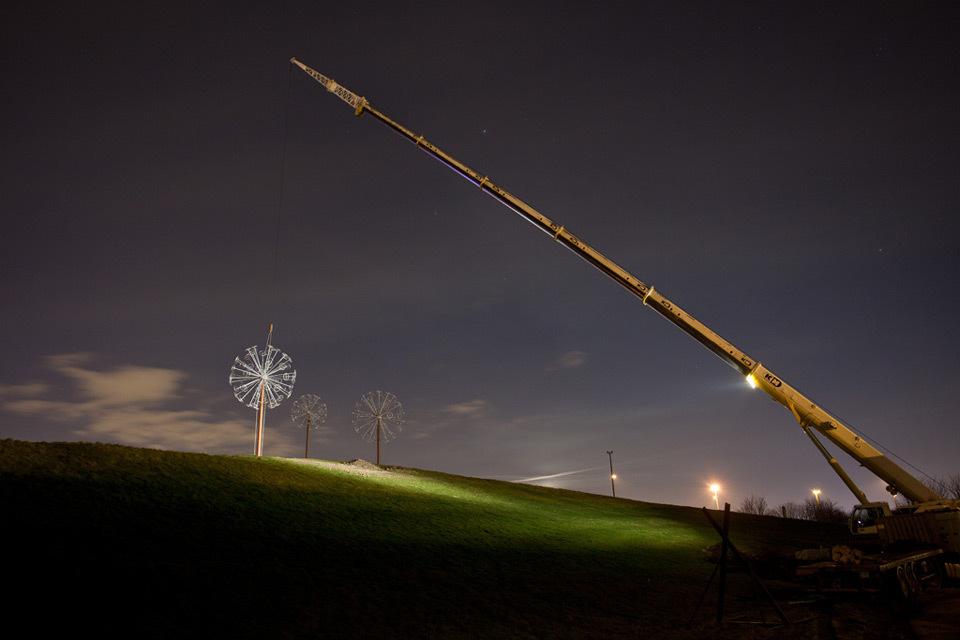 Les Pissenlits, Villeneuve d'Ascq, France - Sculpture Alix Petit - Photo Arter by Yann Bohac