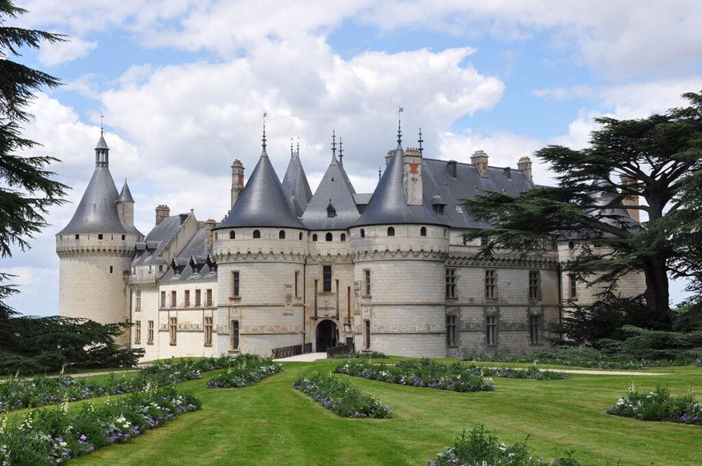 Vue diurne du parc - Château de Chaumont sur Loire, France