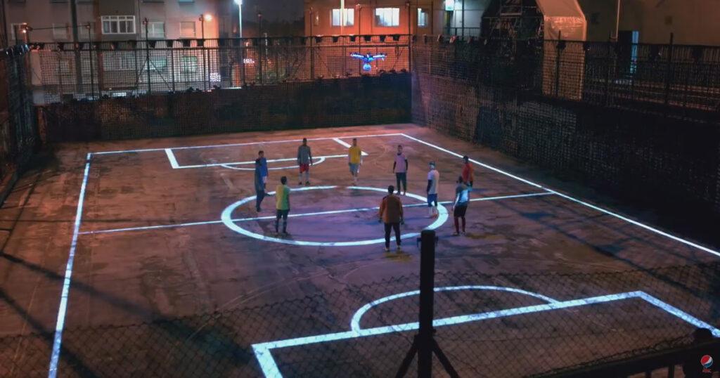 Drone Football, extrait-de la vidéo © Pepsi Max