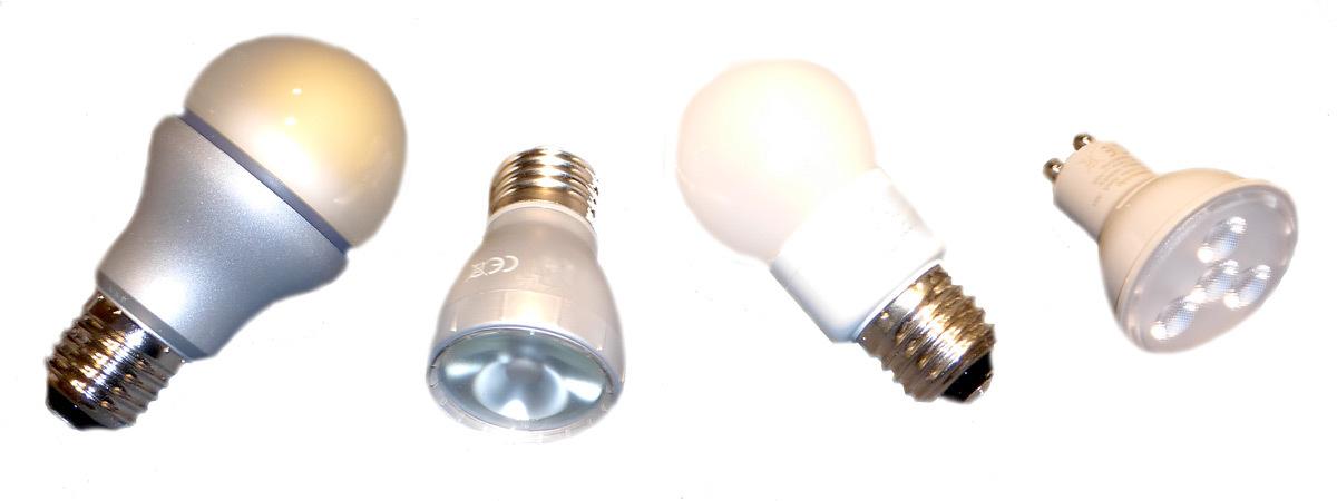 Lampes à verre diffusant et spots à solutions LED