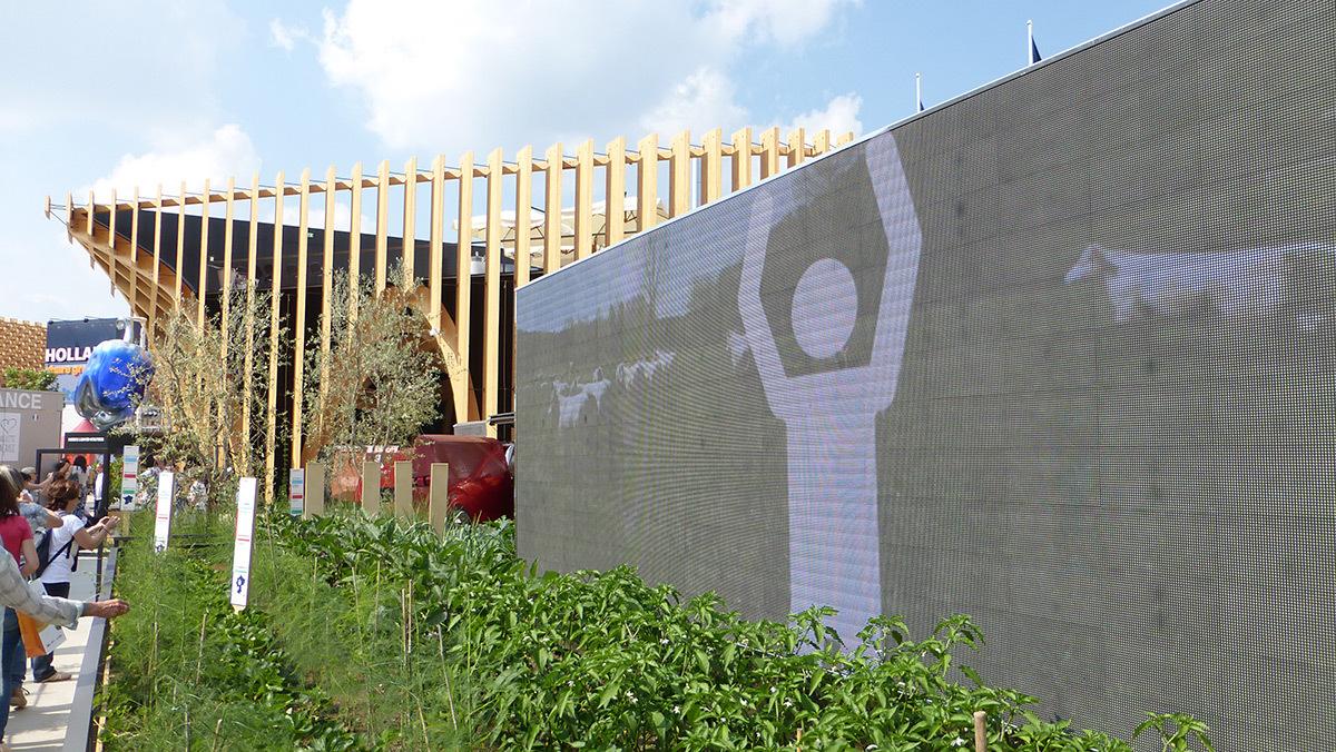 Expo 2015, Pavillon France, Milan, Italie - Dans le jardin - Architectes XTU - Paysagistes Agence Laverne - Photo Vincent Laganier