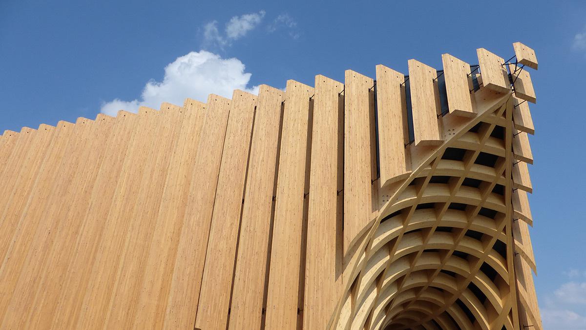 Expo 2015, Pavillon France, Milan, Italie - Angle de l'architecture - Architectes XTU - Photo Vincent Laganier