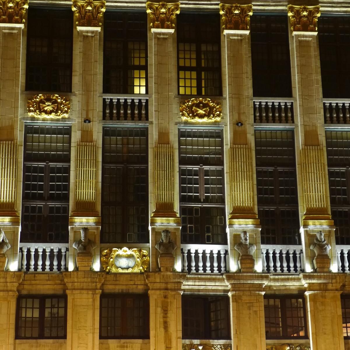Grand-Place de Bruxelles, Belgique - Maison des Ducs Brabant - Conception lumière : Isabelle Corten, Radiance35 et Patrick Rimoux, Agence Patrick Rimoux -Photo : Isabelle Corten