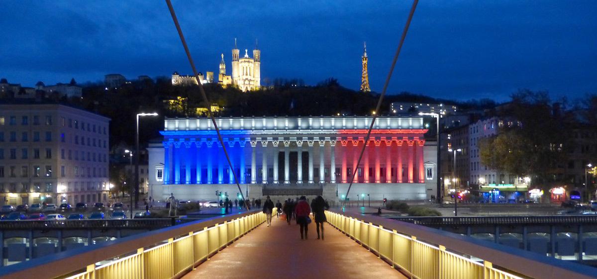 Pilotage en éclairage - Palais de Justice de Lyon