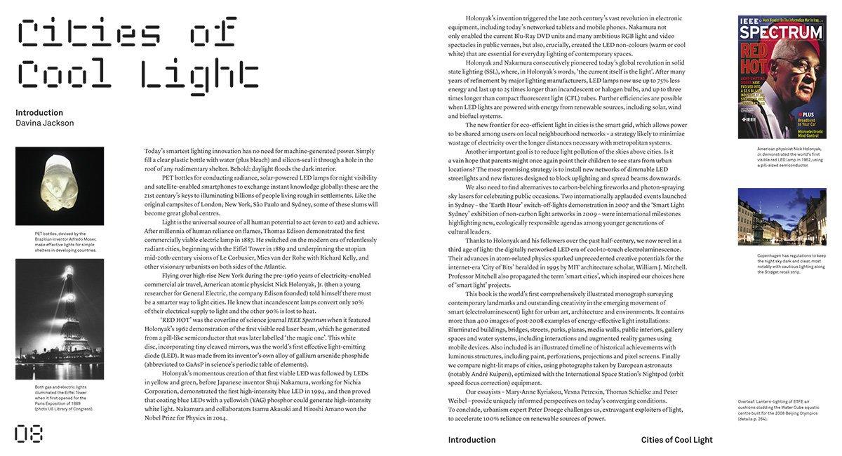 Extrait du livre Superlux, Smart Light Art Design Architecture for Cities - introduction © Thames & Hudson