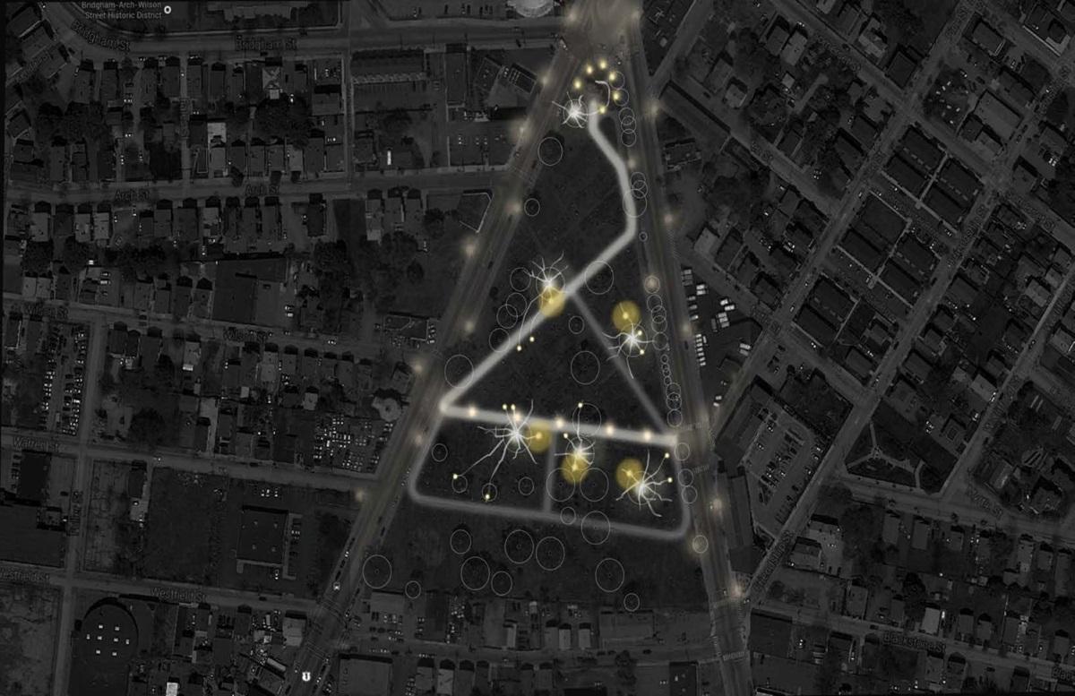 SouthLight 2014 - Plan lumière général - Conception lumière et simulation 3D : Elettra Bordonaro / RISD