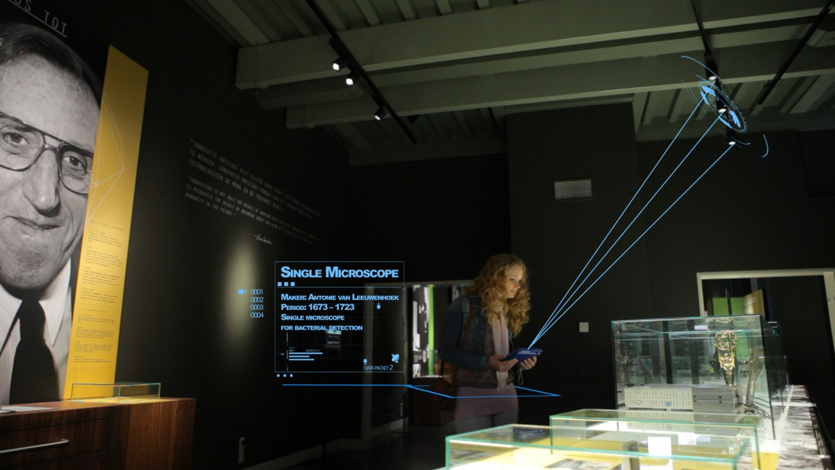 Boerhaave Museum : Li-Fi et application Indoor Positioning de Philips ©Philips