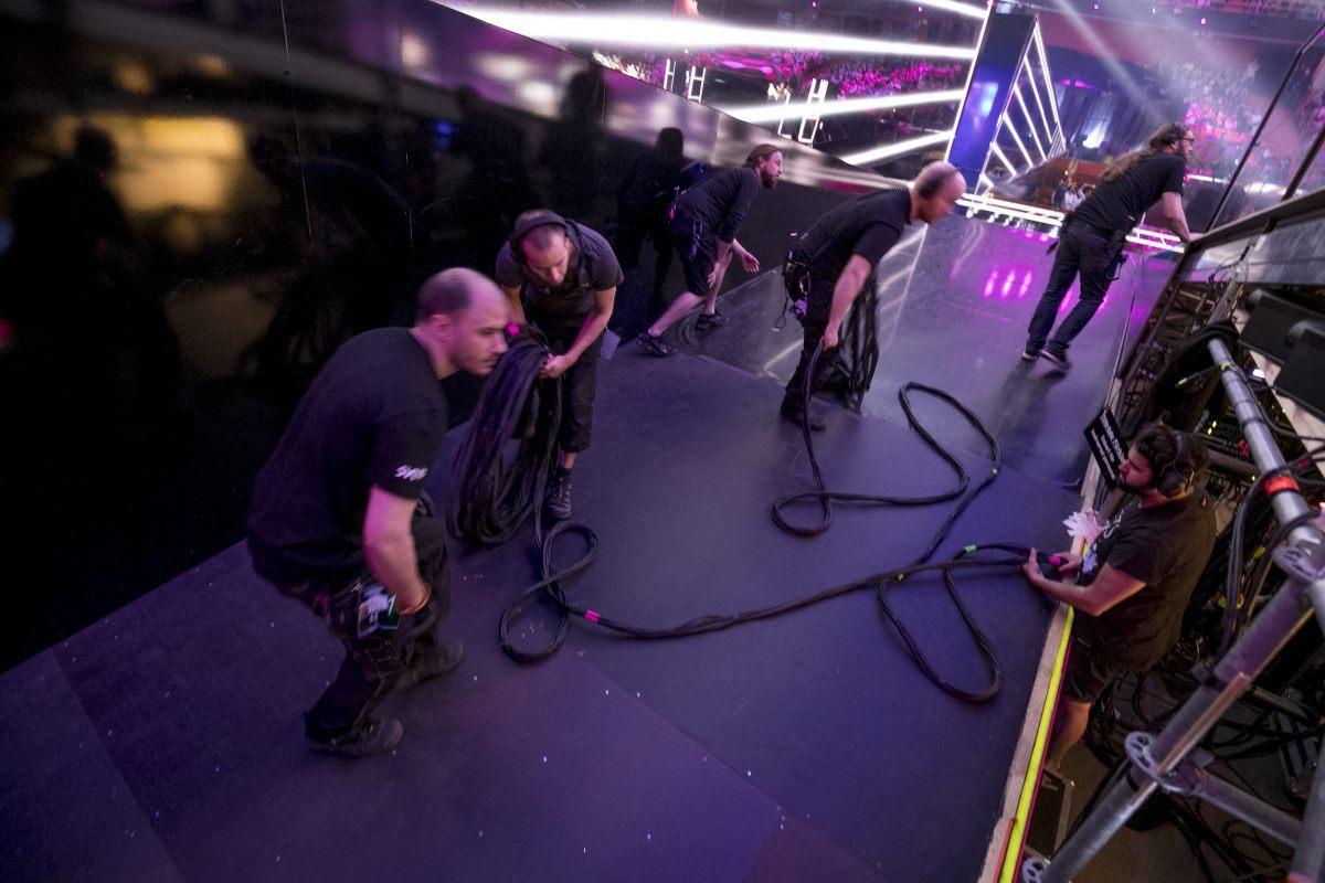 Backstage, Eurovision 2016, Stockholm Globe Arenas, Suède © Andres Putting (EBU)