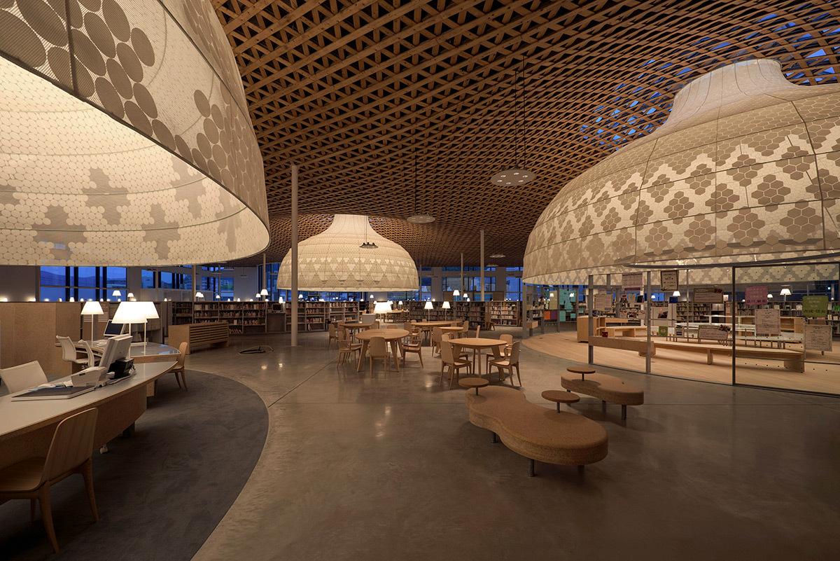 Minna no mori, Gifu Media Cosmos, Gifu, Japon - Architecte : Toyo Ito & Associates - Conception lumière : Lighting Planners Associates © LPA, Toshio Kaneko