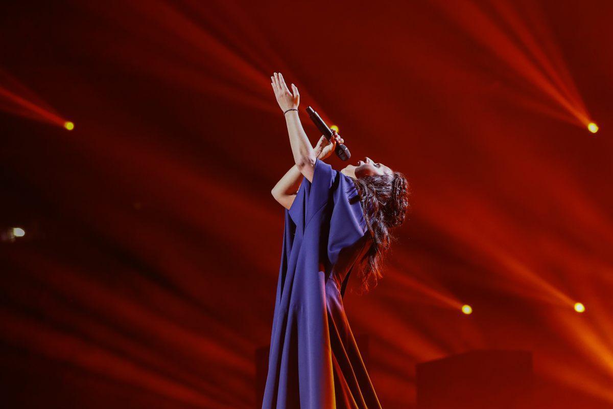 Ukraine, Jamala, Eurovision 2016, Stockholm Globe Arenas, Suede © Andres Putting (EBU)