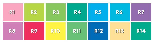 Test des couleurs pour le calcul du rendu des couleurs IRC © Hortilux