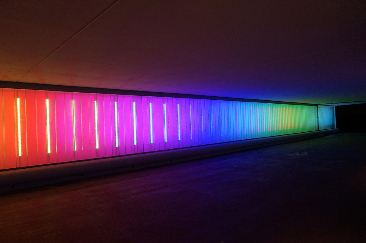 Tunnel Renan, Paris - Conception lumière et photo SeulSoleil