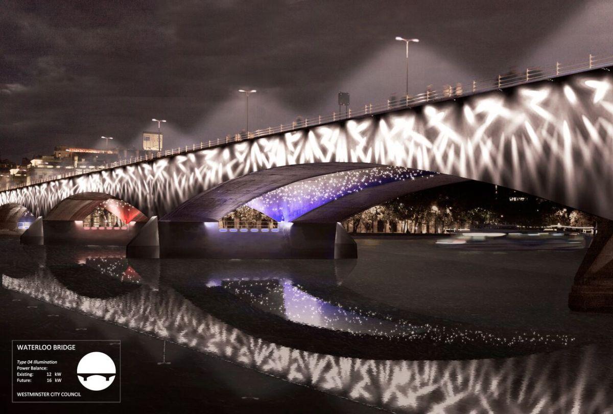 Waterloo Bridge, London, UK © MRC and Les Éclairagistes Associés