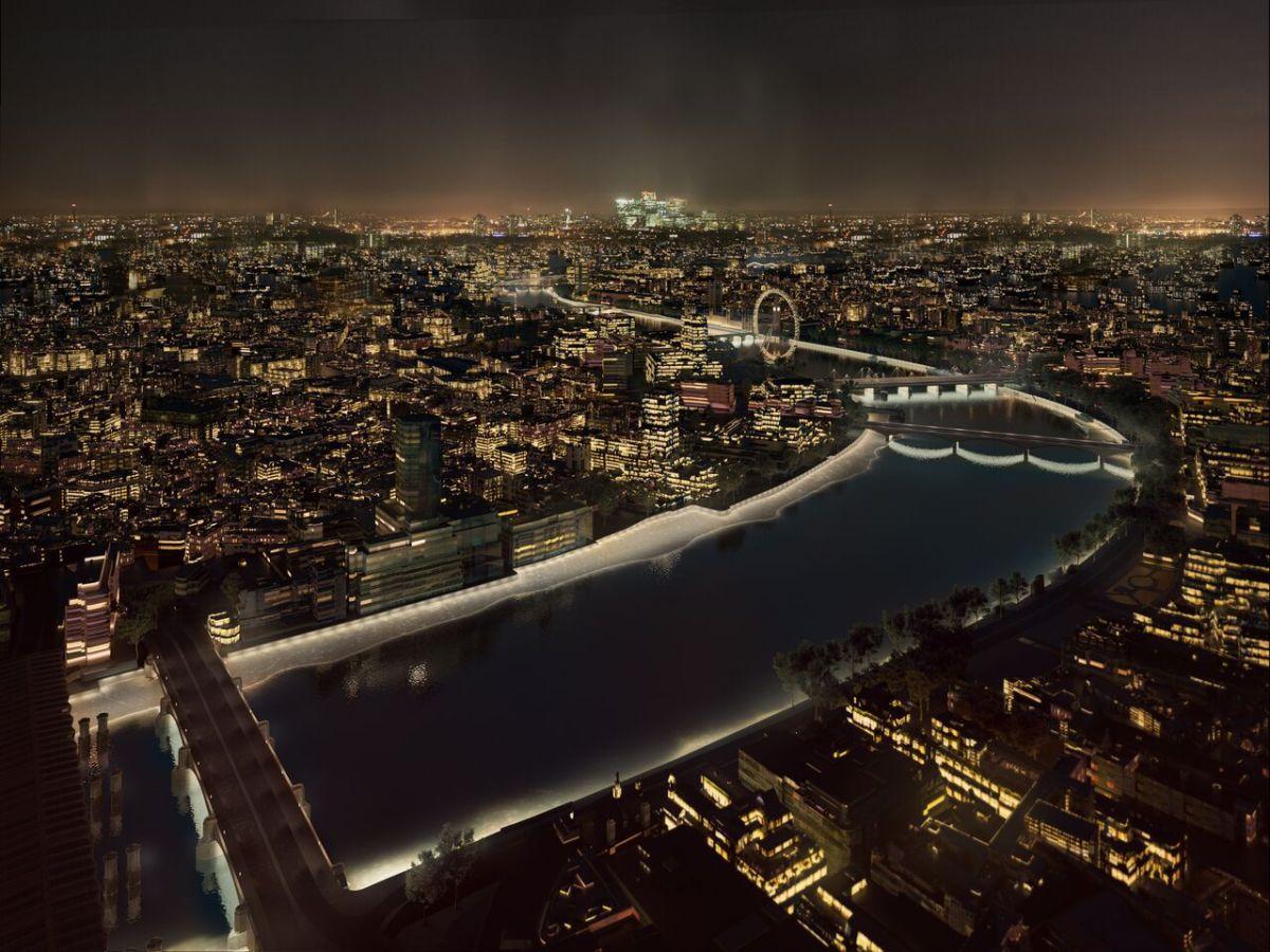 Marée basse, Masterplan, London, UK © MRC and AL_A