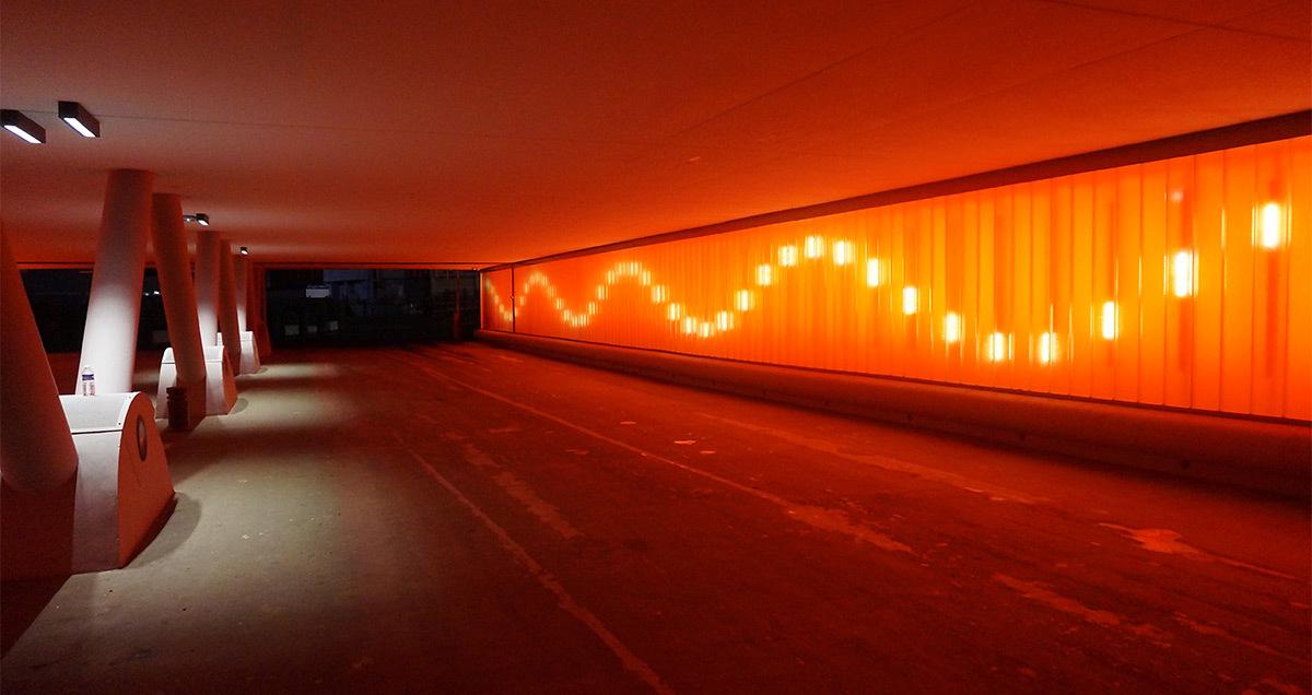 Tunnel Renan, parc des expositions de la porte de Versailles, Paris, France - Conception lumière et photo : Seulsoleil
