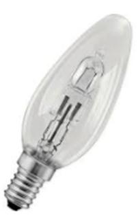 Lampe halogène flamme E14