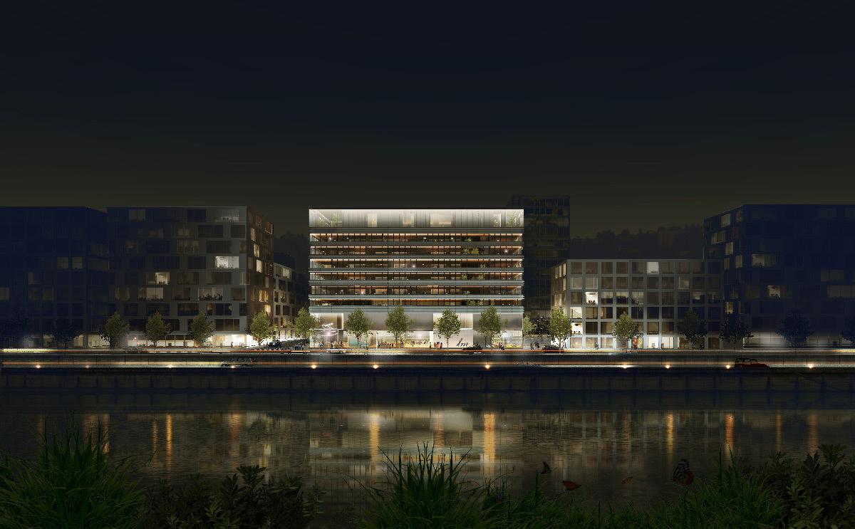 Simulation 3D du projet Lumen, la Cité de la Lumière à Lyon