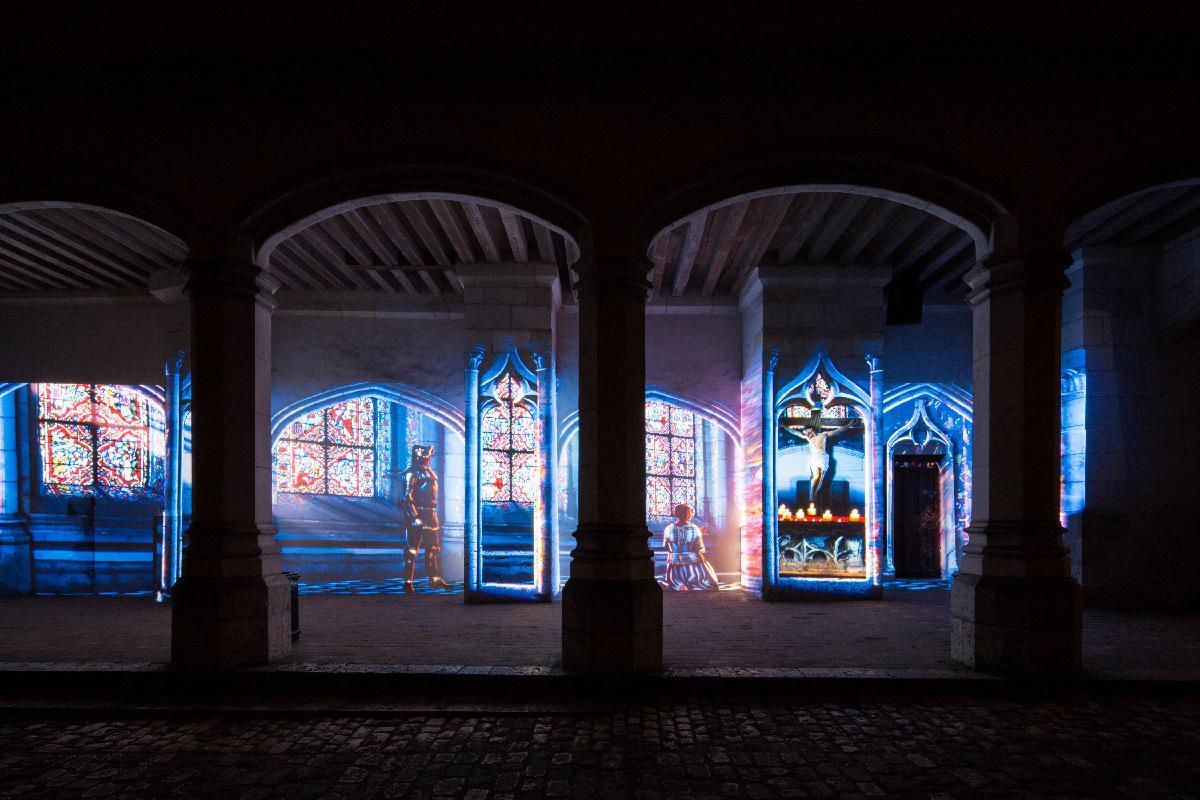 """""""Ainsi Blois vous est comté"""", Son et Lumière du château royal de Blois 2018, France © Pashrash"""