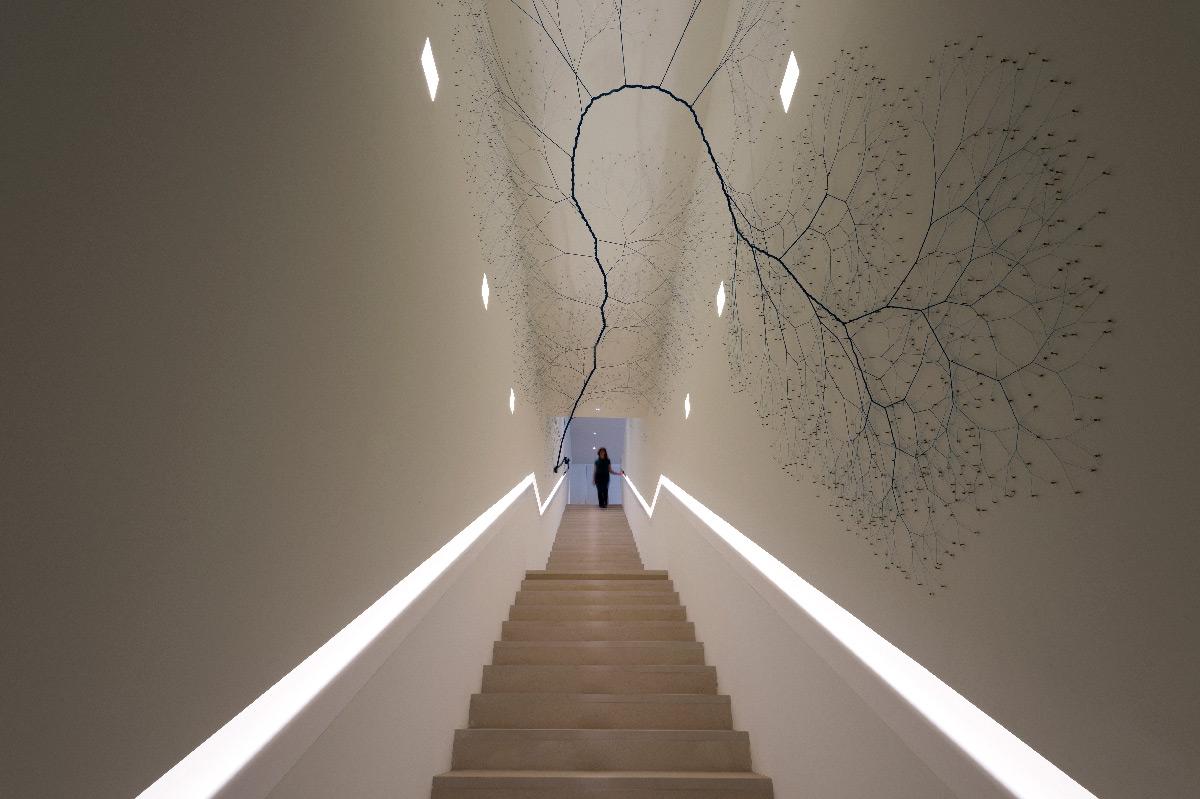 Conception lumière en éclairage intérieur dans un escalier